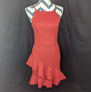 Sparkly Red Salsa Dress by Charlotte Russe